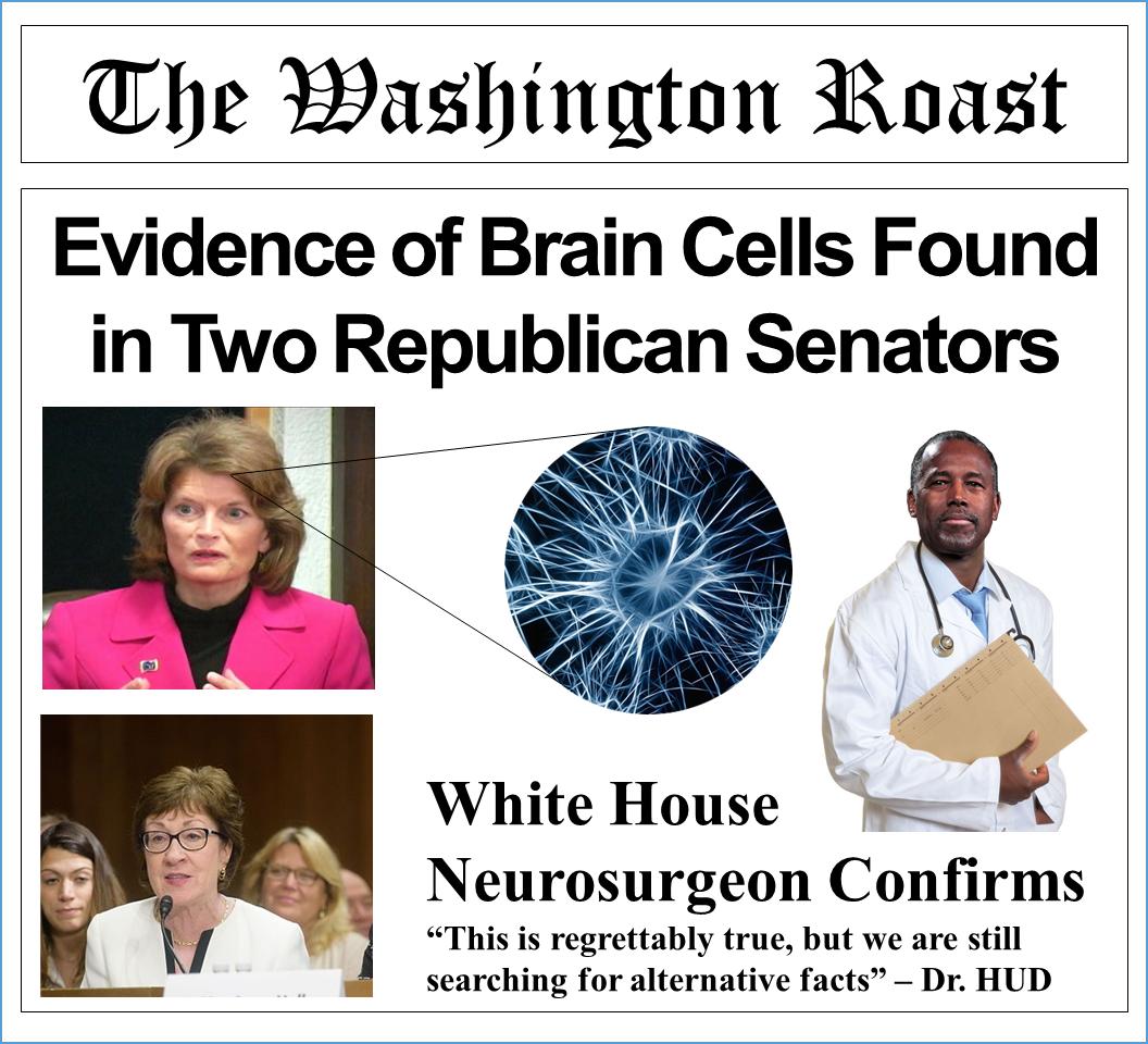 Evidence of Brain Cells Found in Two Republican Senators