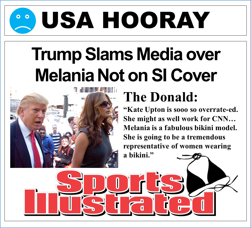 Trump Slams Media over Melania Not on Sports Illustrated Cover
