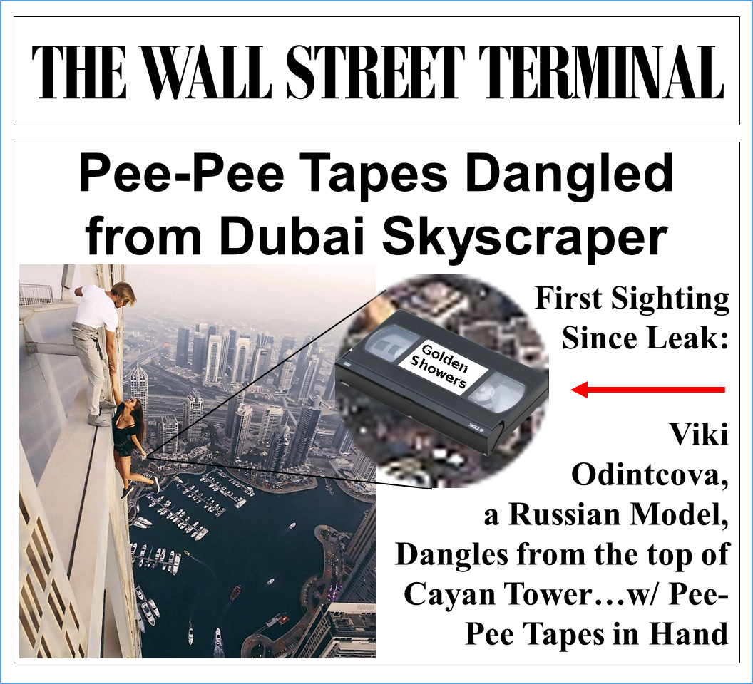 Pee-Pee Tapes Dangled from Dubai Skyscraper