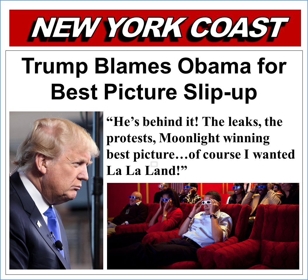 Trump Blames Obama for Best Picture Slip-up