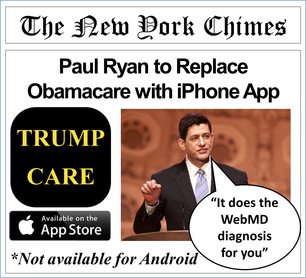 Paul Ryan to Replace Obamacare with iPhone App